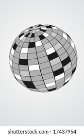 Vector of a disco mirror ball