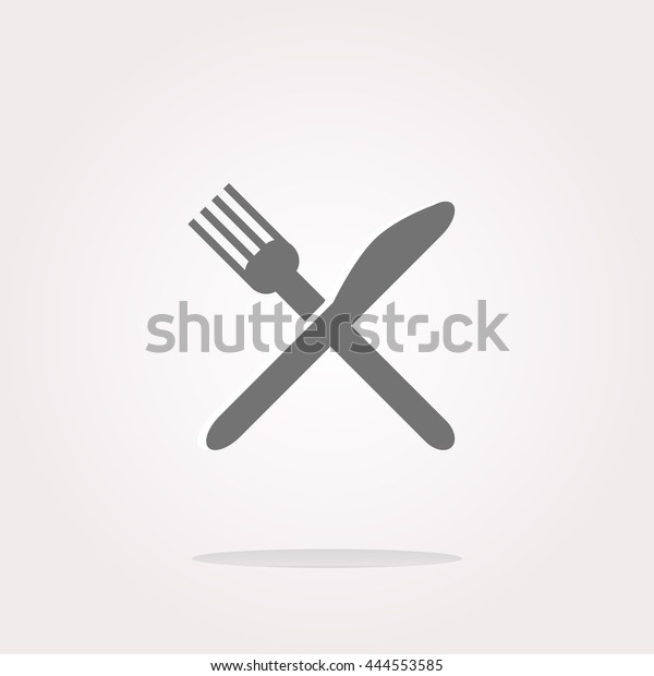 Vector Dish fork and knife icon, Food concept