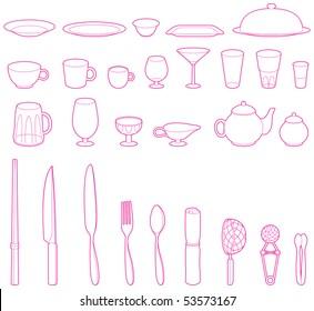 Vector dish set