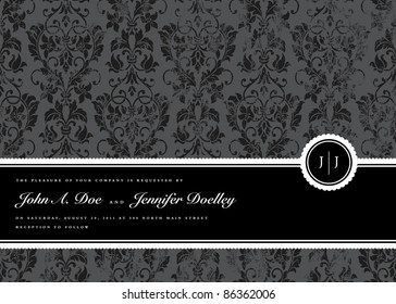 Vector Distressed Pattern and Seal Frame. Distressed overlay is separated, and easy to edit. Perfect for invitations or announcements.