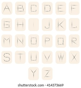 vector divider abc alphabet on cream background