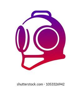 vector diving helmet logo