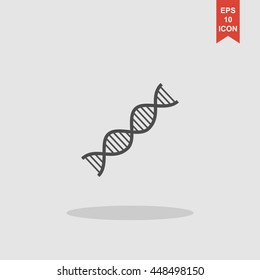 Vector DNA icon. Flat design style eps 10