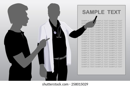 Vector of a doctor and man