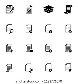 vector document file format - archive office papers. business and computer icons set