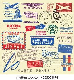 Imágenes, fotos de stock y vectores sobre Vintage+mail+