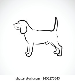 Vector of a dog beagle on white background. Pet. Animal. Dog logo or icon. Easy editable layered vector illustration.
