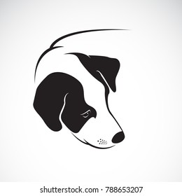Vector of a dog head design on white background. Pet. Animals. Easy editable layered vector illustration.