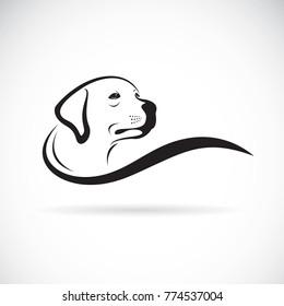 Vector of a dog head design(Labrador Retriever) on white background, Pet. Animals.