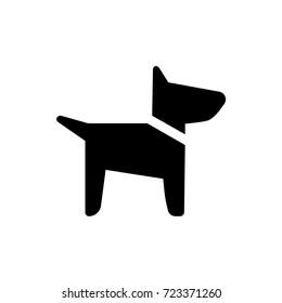 Vector dog icon.