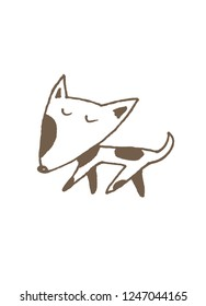 vector dog illustration. pen drawing. simple design.