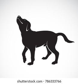 Vector of a dog labrador on white background. Pet. Animals. Easy editable layered vector illustration.