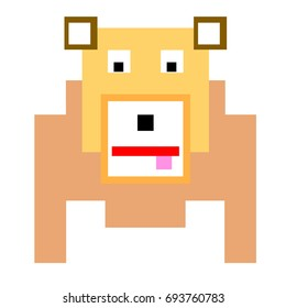 Vector dog are made of squares and rectangles