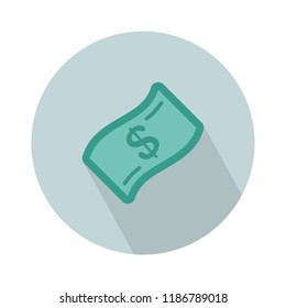 Vector Dollar sign, money dollar icon - currency dollar bill symbol