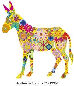 vector donkey