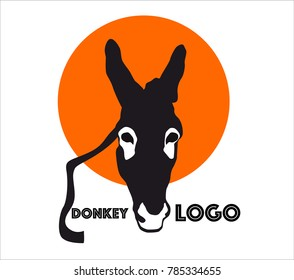 A vector donkey logo for your zoo. You can change the color and also add your own text.