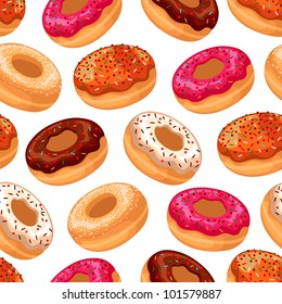 Vector donuts pattern