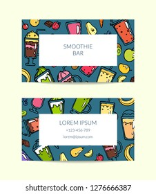 Vector doodle smoothie for cafe or vegan bar illustration