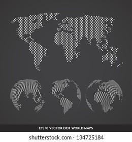 Vector Dot World Globe Set