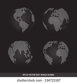 Vector Dot Worldmap Set