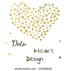 Vector dots heart wedding valentine christmas design template
