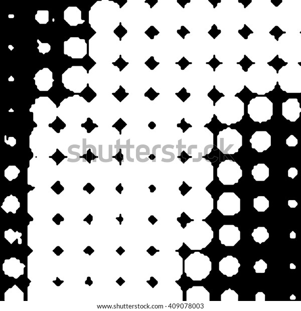 Vector Dotted Grunge Texture Abstract Dots Stock Vector