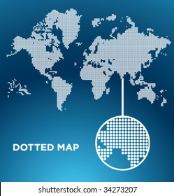 Vector Dotted Map of the World