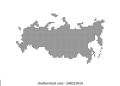 Vector Dotted Russian Federation Map