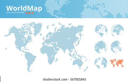 World map vector dots stock vectors images vector art shutterstock vector dotted world map business world map with marked economic centers and earth globes gumiabroncs Image collections