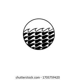 Vector DotWork Tattoo Ocean Wave Collection