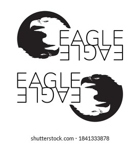 Vector double eagle head logo