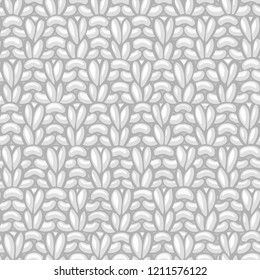 Vector Double Moss Stitch Pattern. American Moss Stitch. Сotton hand-knitted fabric material. High detailed knitting boundless background. Hand-drawn woolen knitwear.