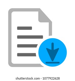 Vector Download file icon - file document symbol - document arrow illustration