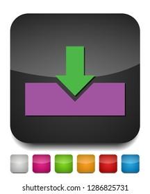 Vector Download symbol - app down load button