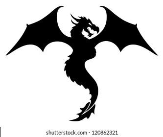 Vector. Dragon.