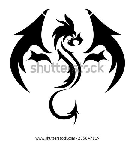 vector dragon stencil stock vector royalty free 235847119