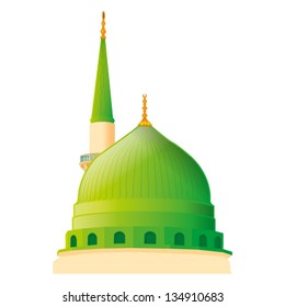 a vector draw of Masjid Nabawi in madina