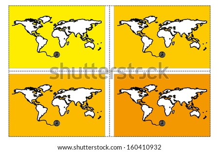 Vector Draw World Map Pattern Background Stock Vector Royalty Free