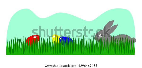 Vector Drawing Banner Easter Egg Hunt Stock Vector (Royalty ...