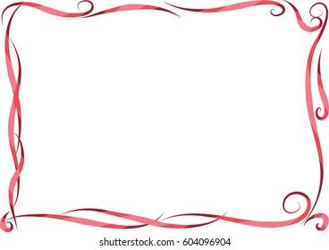 vector drawing border set