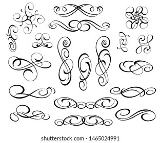 Vector drawing with decorative design elements.
