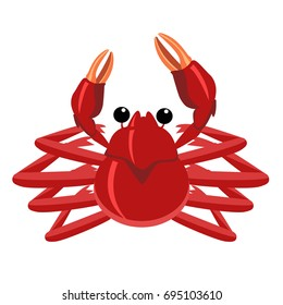 Vector Drawing of Delicious Red Crab