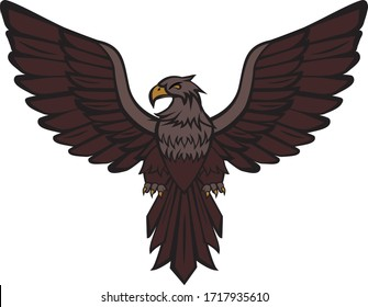 vector drawing of an eagle