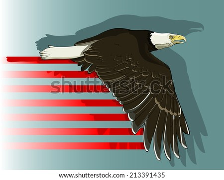 Vector Drawing Eagle Flying Bald Eagle Flying Stock Vector Royalty