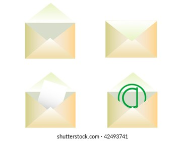 Vector drawing envelopes. Object on a white background