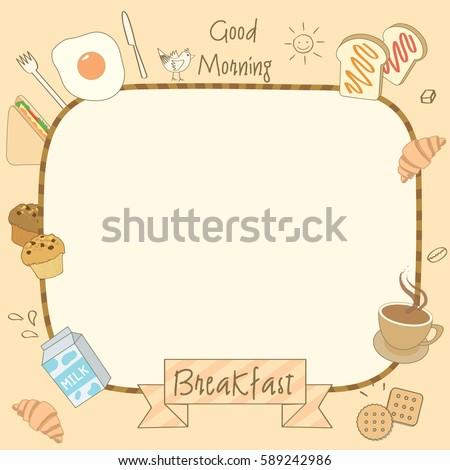 Vector drawing food drink breakfast menu stock vector royalty free vector drawing of food and drink breakfast for menu template maxwellsz