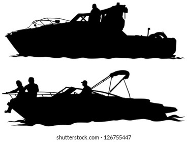 Vector drawing of a large sea boat
