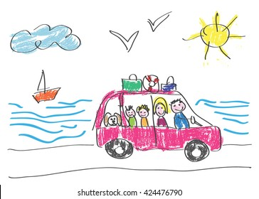 Kid Drawing Car Images Stock Photos Vectors Shutterstock