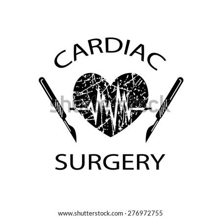 Vector Drawing Medical Symbol Cardiac Surgery Stock Vector Royalty