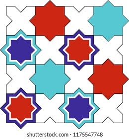 Vector drawing with mosaic pattern. Abstract background, wall decoration, wall table, background, wrapping paper, banner, fabric and textile pattern can be used.